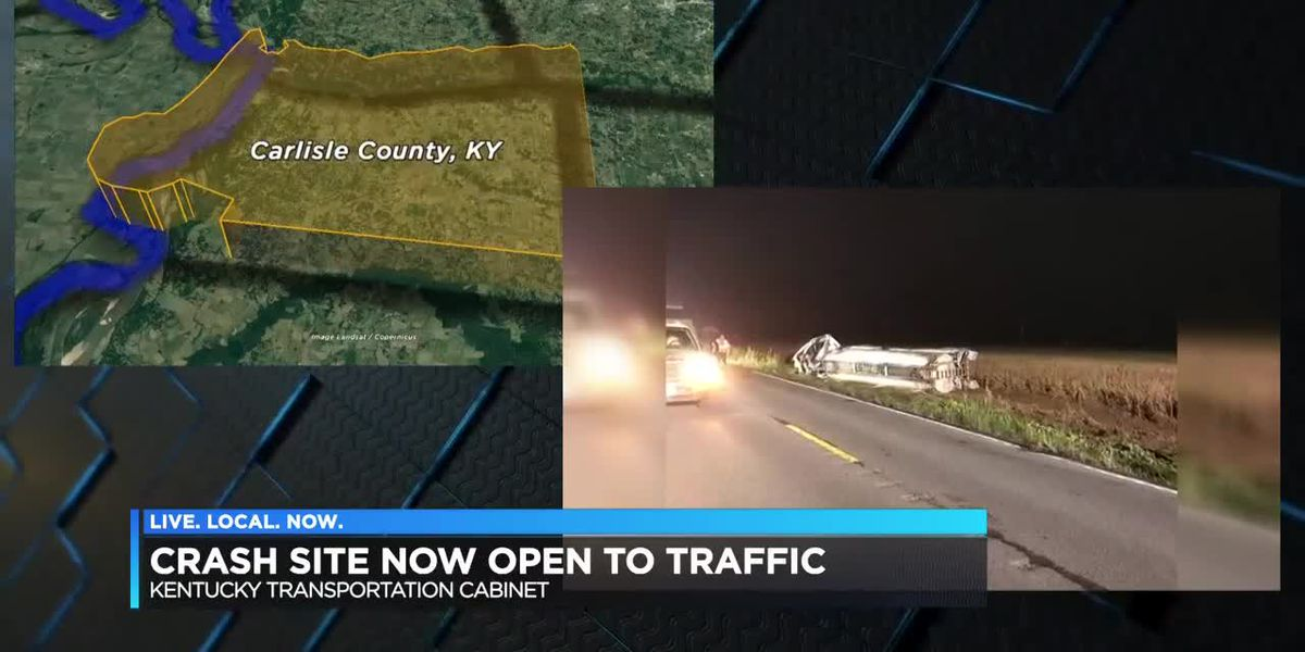US 51 open after tanker overturned in Carlisle County, KY