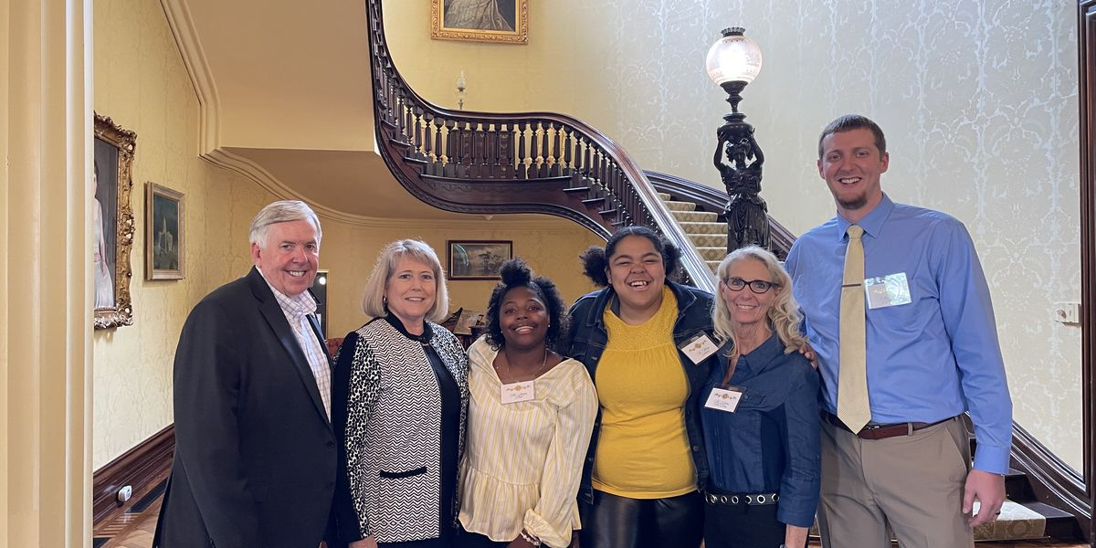 Central Academy students visit Governor Parson in Jefferson City