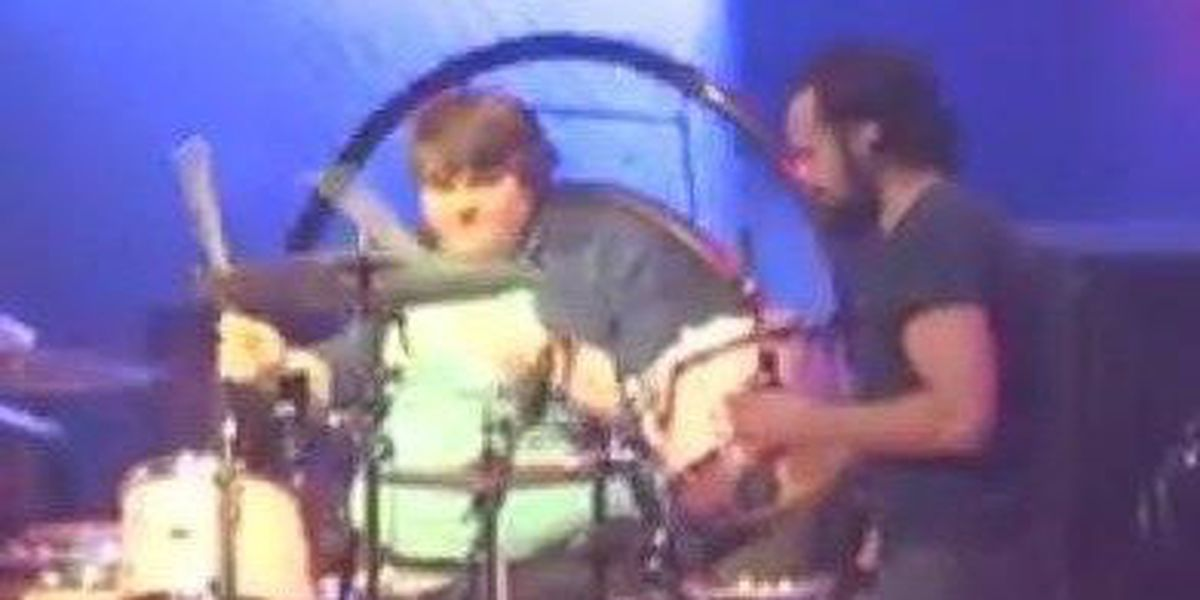 Poplar Bluff, MO drummer plays with The Killers onstage