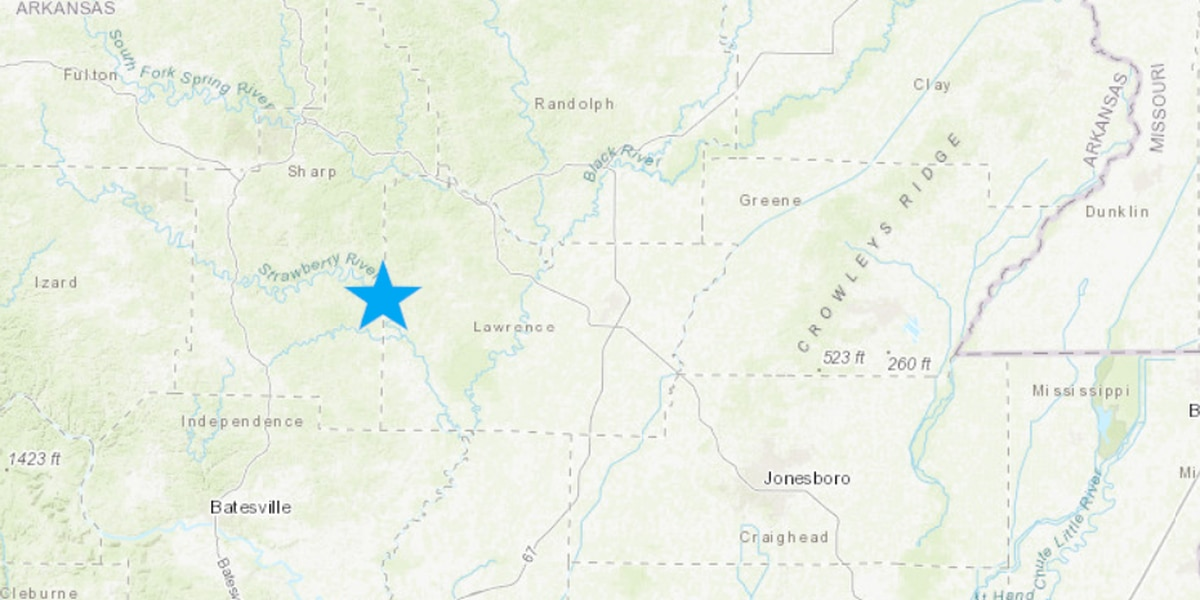 Multiple quakes rattle near Arkansas/Missouri border