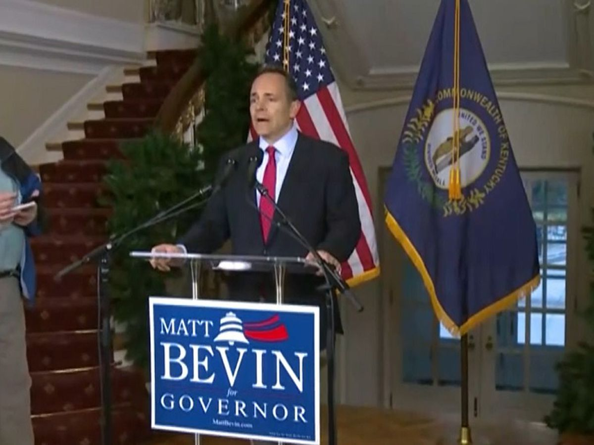 Gov. Bevin discussed election results, recanvassing request in news conference on Wednesday