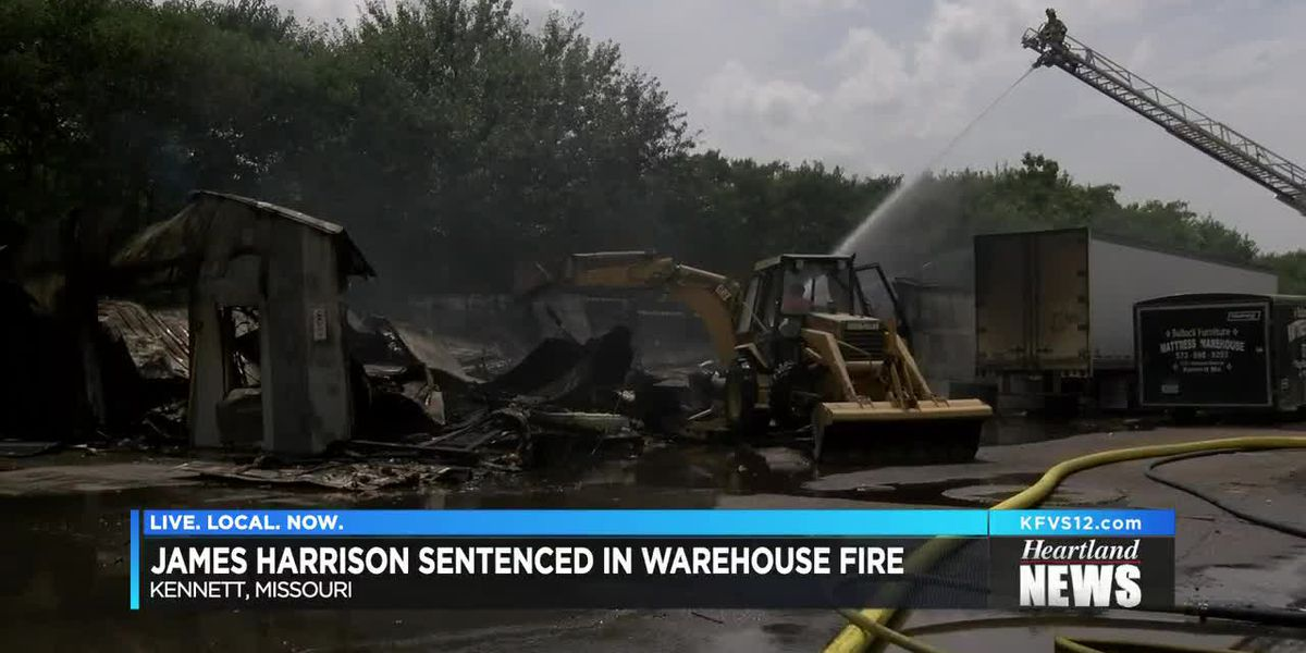 Man sentenced to nearly 7 years in Kennett warehouse fire