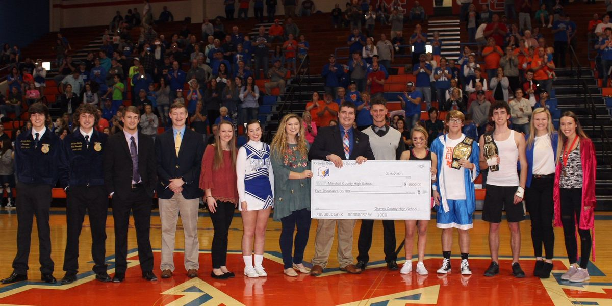 Graves High students donate $5,000 to help victims of Marshall Co. shooting