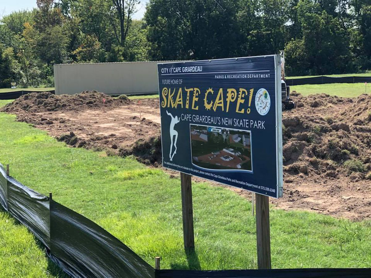 Construction started on skate park in Cape Girardeau