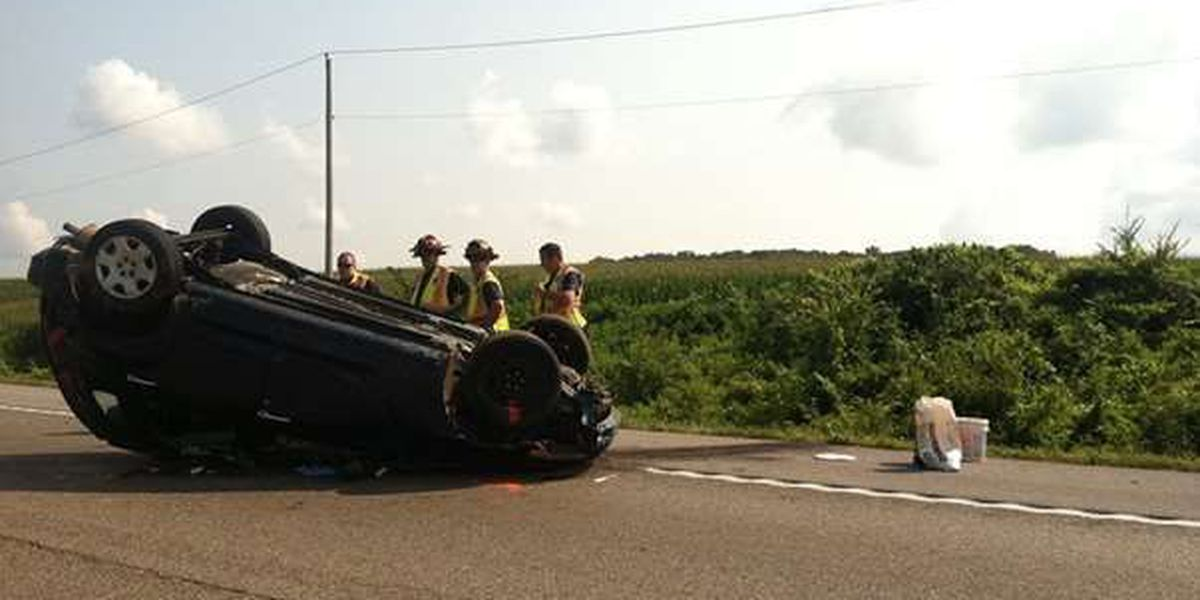 Police respond to rollover crash on I-55