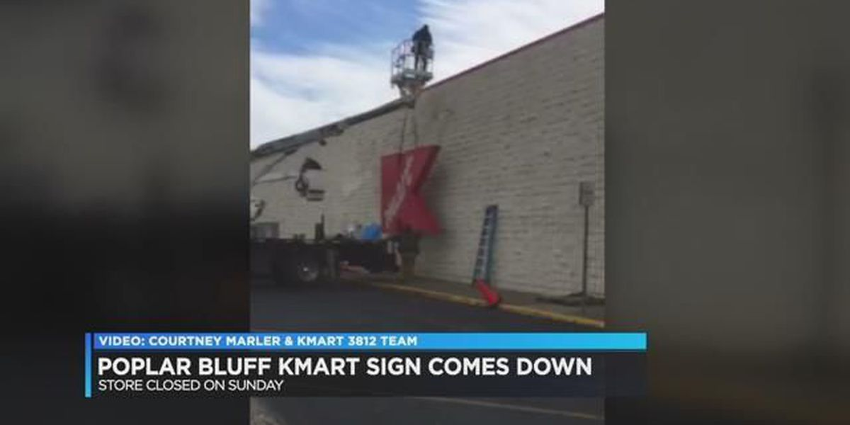 K-Mart sign comes down in Poplar Bluff
