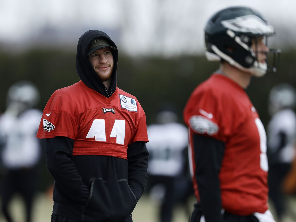 Carson Wentz sits out practice second day in a row