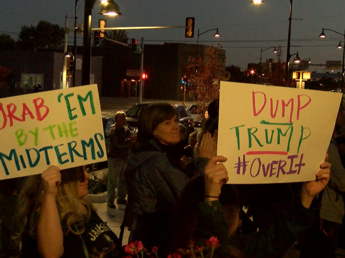 Trump rally protest held in front of Carbondale City Hall