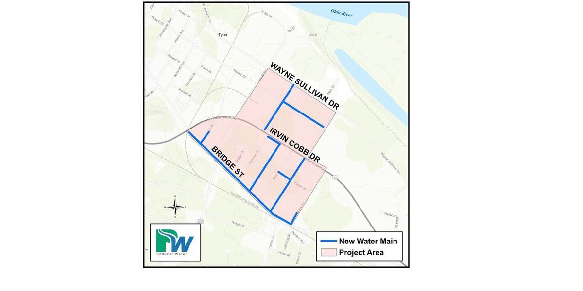 $1.2M water main replacement project to begin on Paducah's South Side