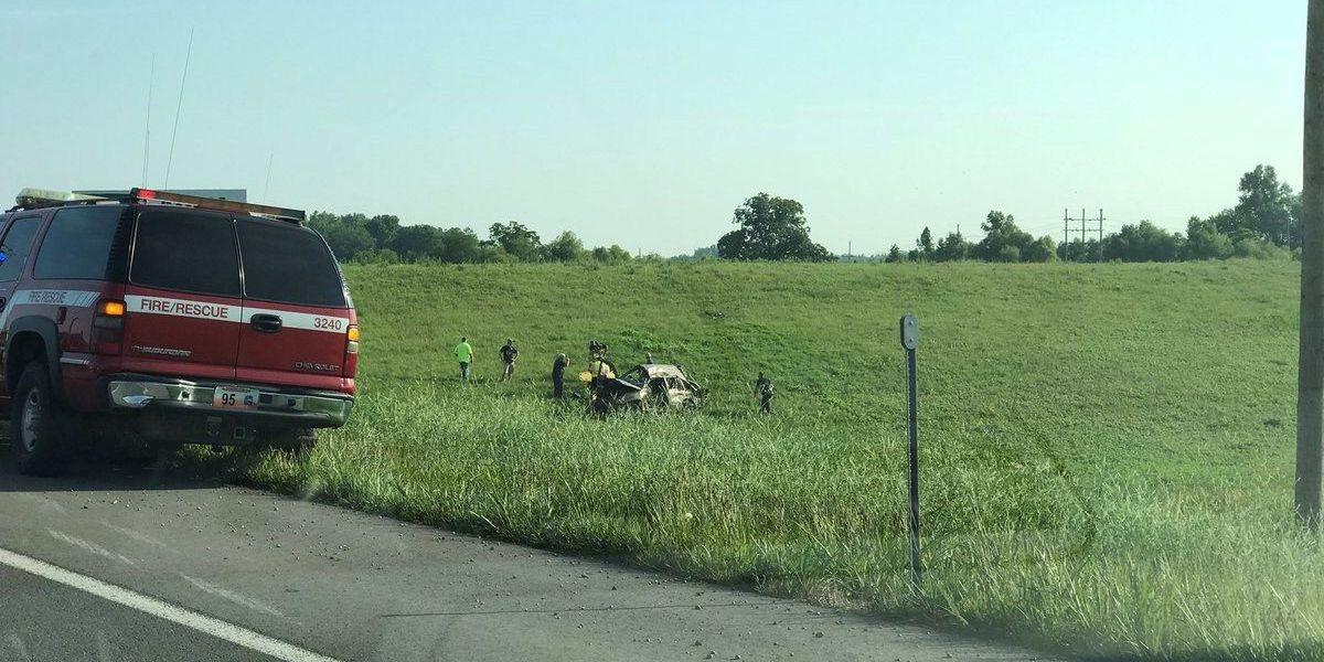 2 hurt after crash on I-55 NB near the Diversion Channel