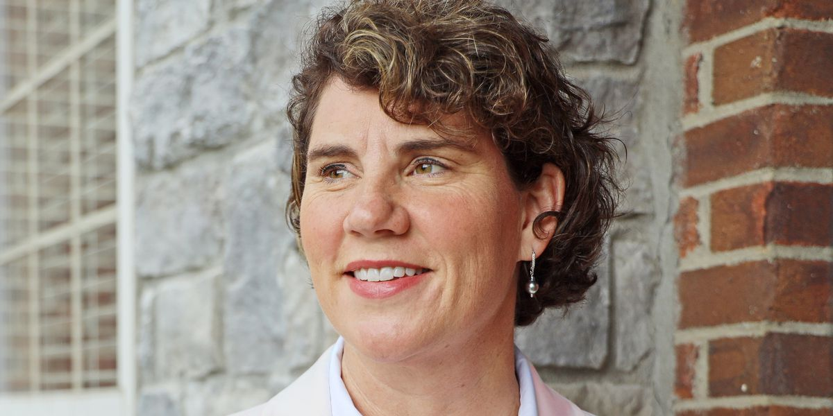 Senate candidate Amy McGrath meets with the public in Mayfield