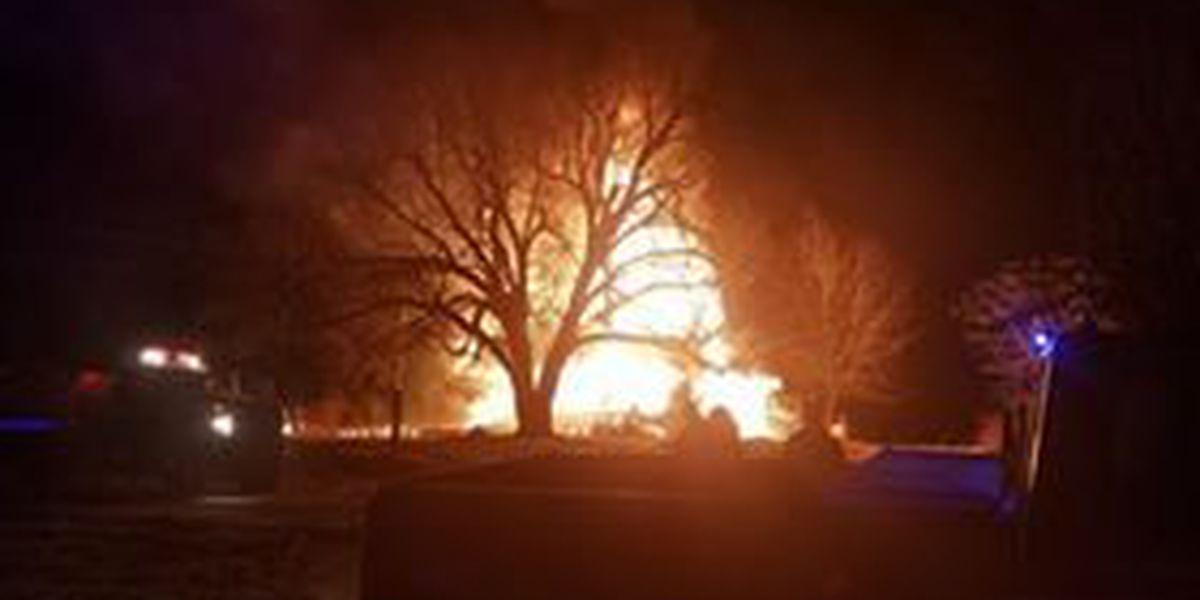 Crews battle early morning fire in Ripley County