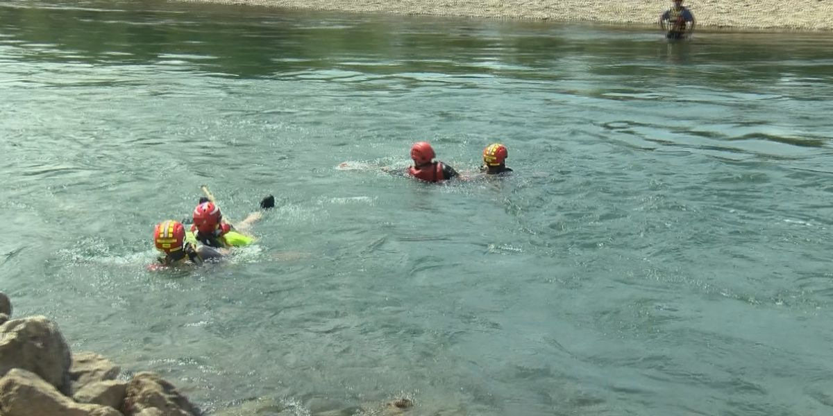 Firefighters train for swift water rescues