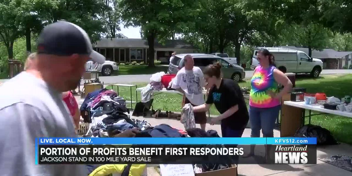 Some profits from yard sale goes to first responders