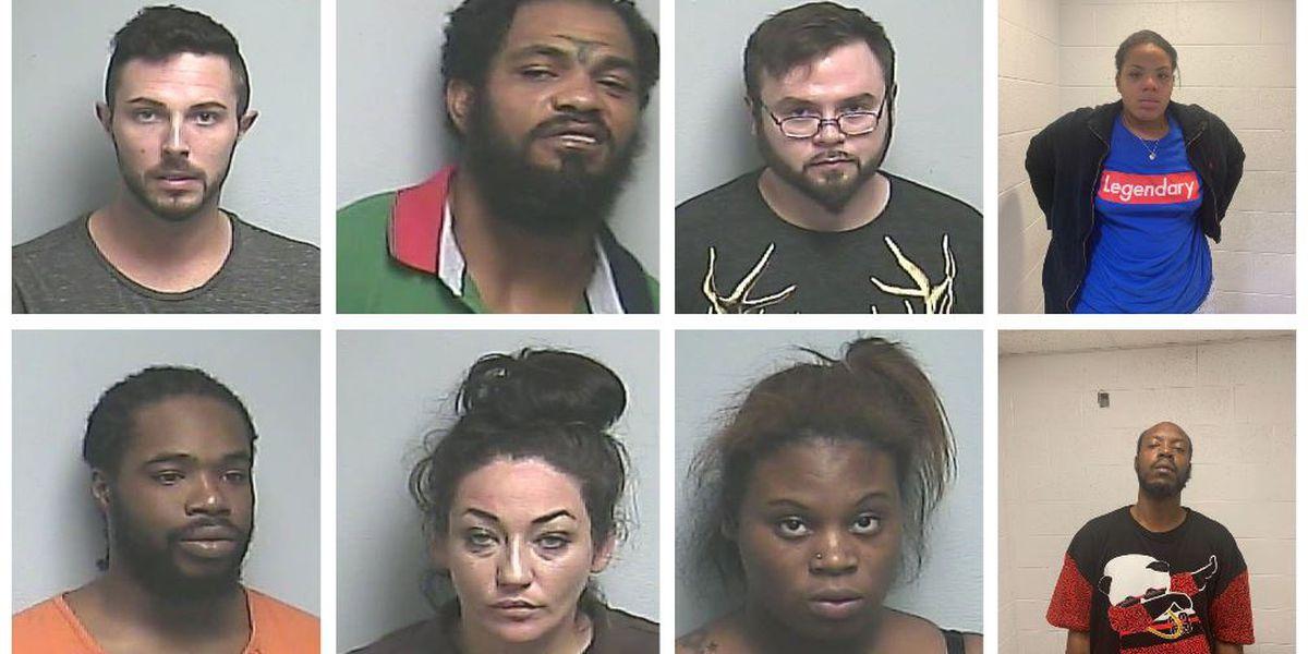 8 face drug charges after multiple drug investigations in