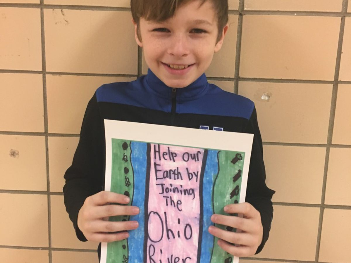 Reidland Intermediate 5th grader wins 1st place in Ohio River Sweep poster contest