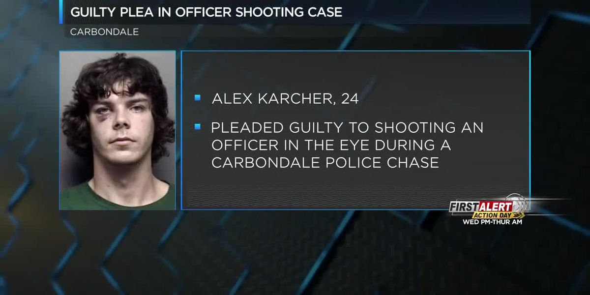 Kansas man pleads guilty to 2016 shooting of Carbondale, IL officer