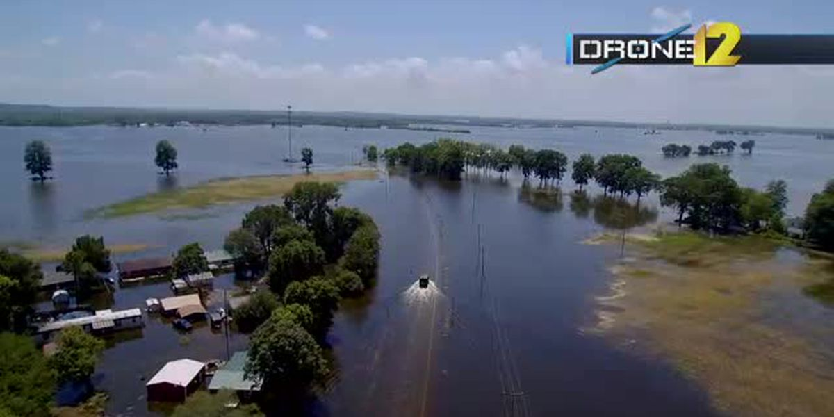 Flooding in McClure, Ill. on 6/24