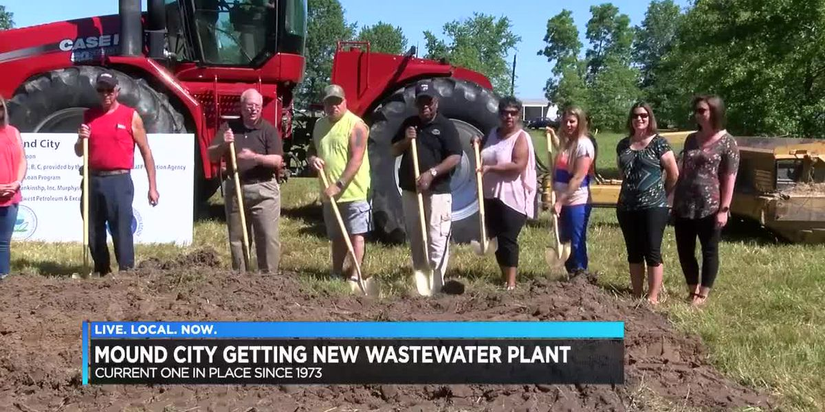 Mound City breaks ground for new wastewater plant