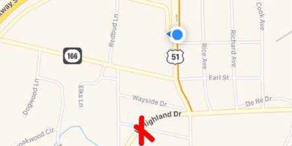 Two-vehicle crash blocks US 45 in Fulton, KY