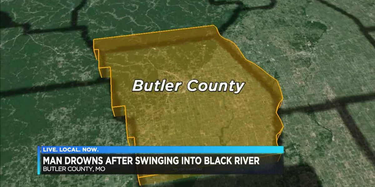 Man drowns after swinging from a rope swing into Black River