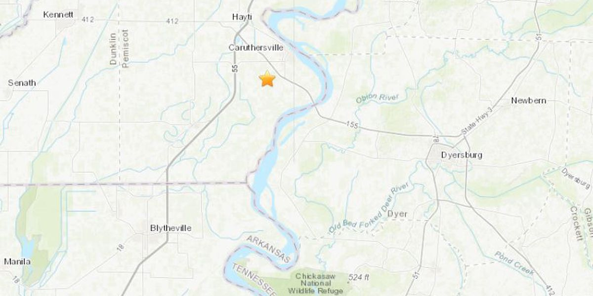 Small 2.1M quake hits southeast, MO near Caruthersville