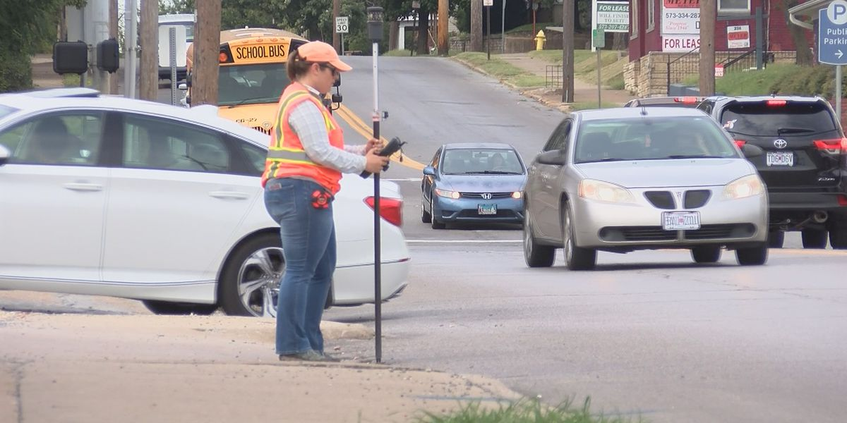 Road survey starts on Sprigg Street in Cape Girardeau, MO