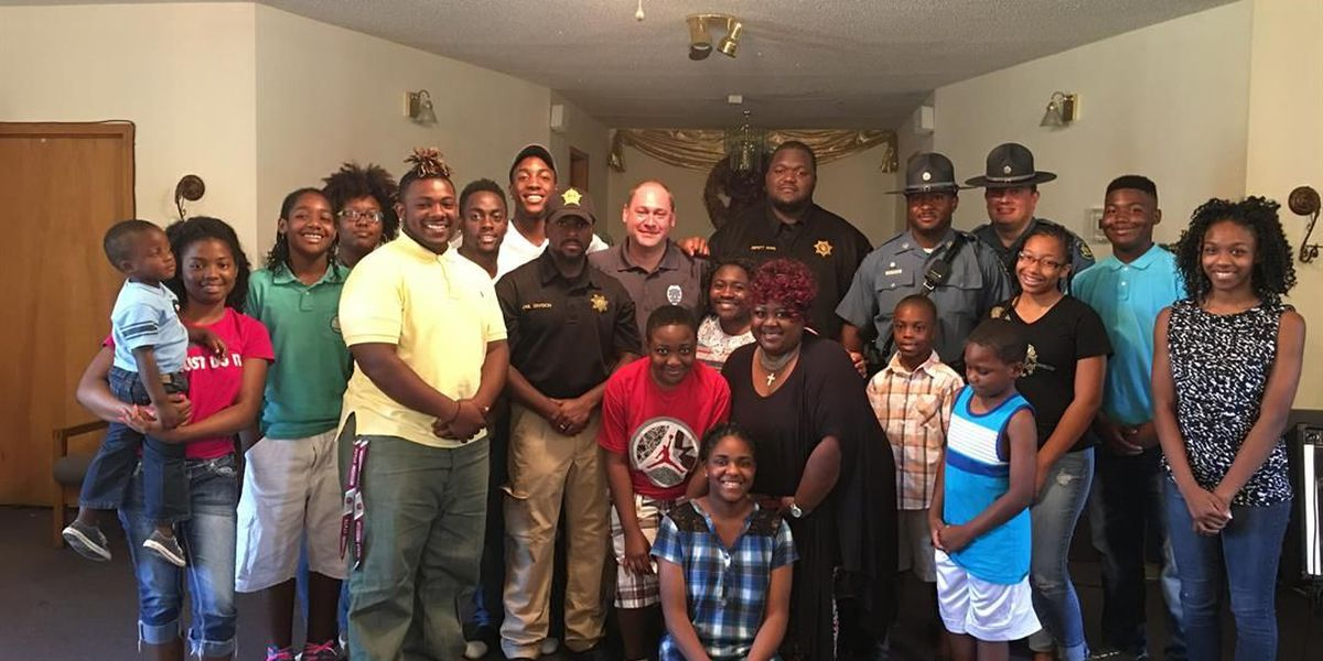 Hayti church hosts meeting with youth and officers