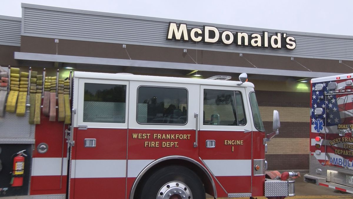 'Fries with Firefighters' at West Frankfort McDonald's