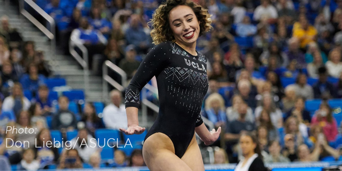 PERFECT 10: UCLA gymnast wows the internet and the judges