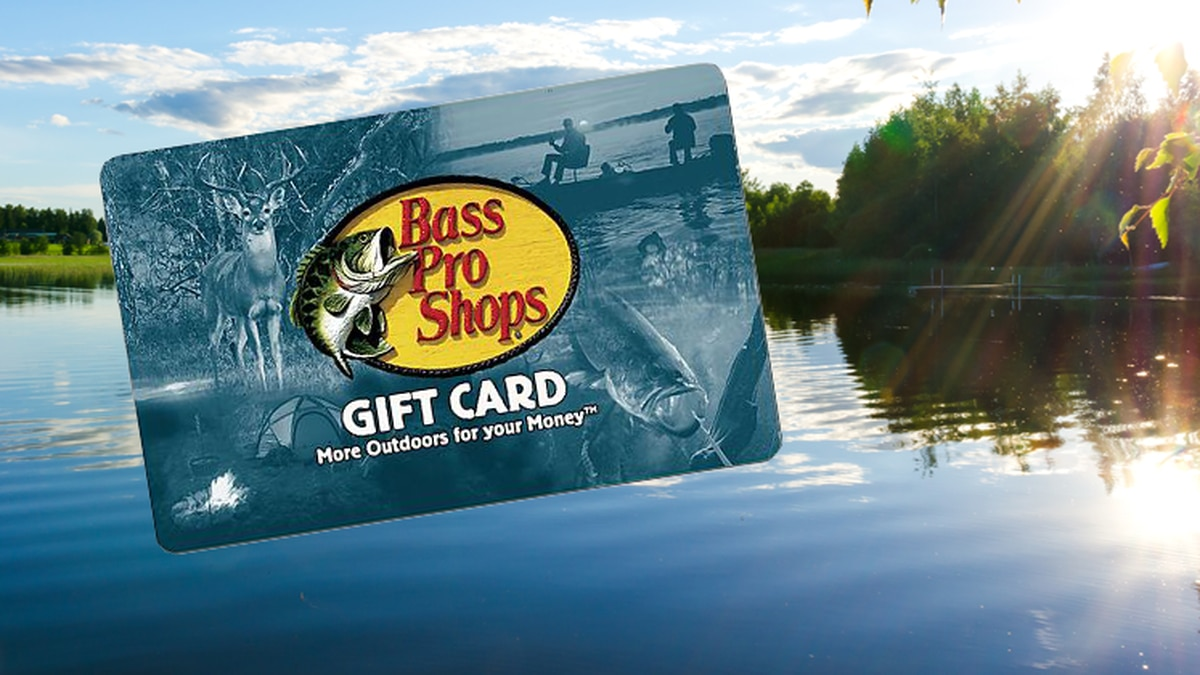 Enter to win a $100 gift card to Bass Pro