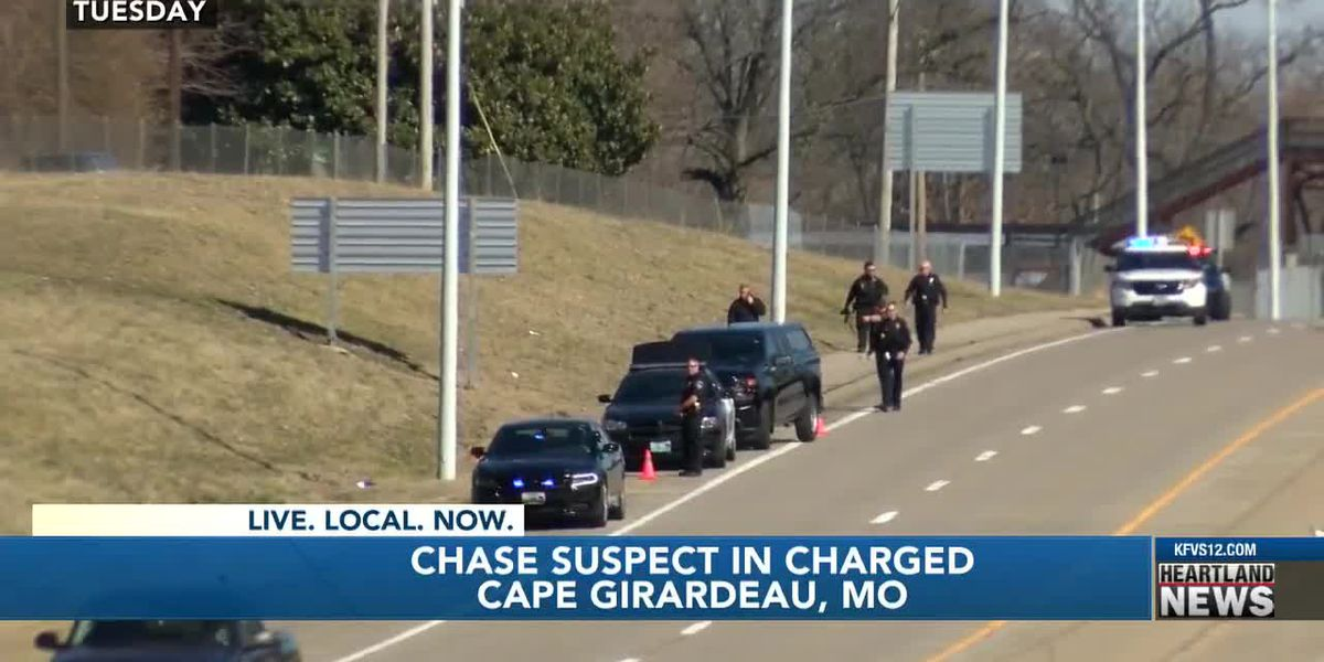 Man in custody after police chase through Cape Girardeau, down I-55