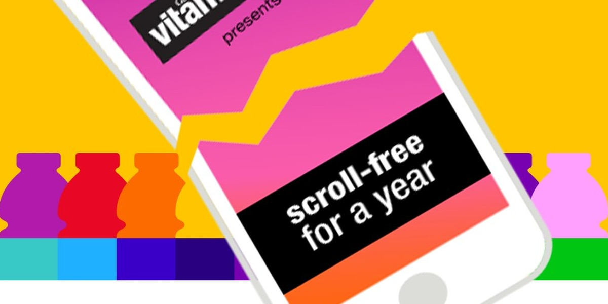 Vitaminwater bets $100000 you can't go a year without your smartphone