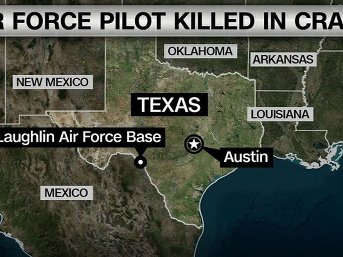 Air Force pilot dies in plane crash at Laughlin AFB, TX