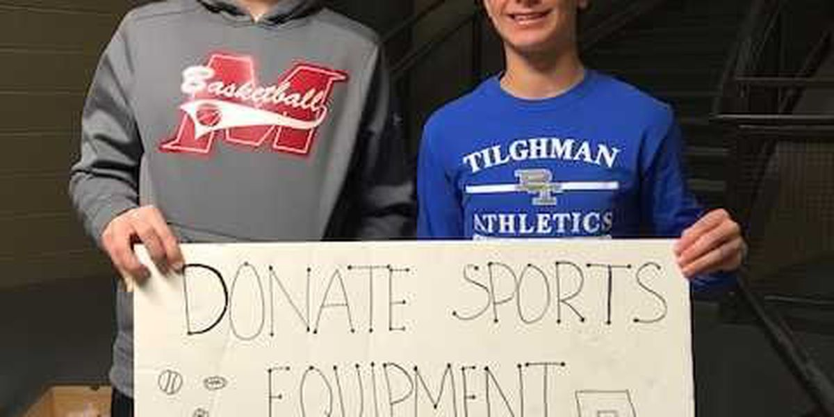 Local high schools team up to collect sports gear