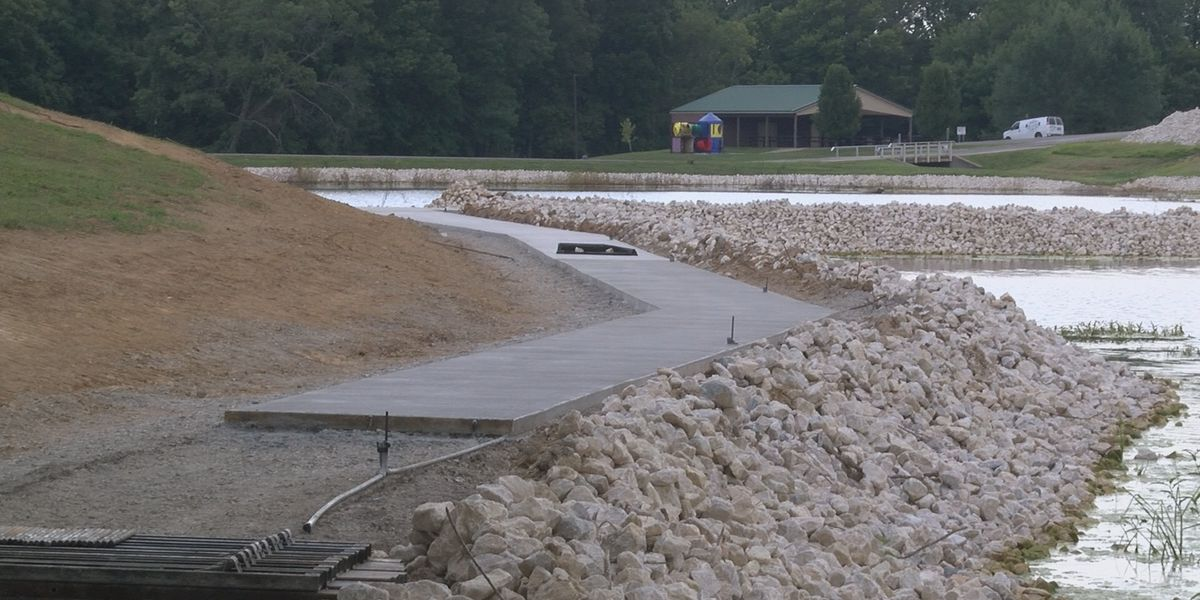 Crews now installing sidewalk at Cape County Park South