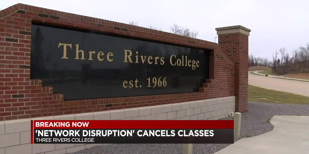 Three Rivers College experiencing a network disruption cancelled classes