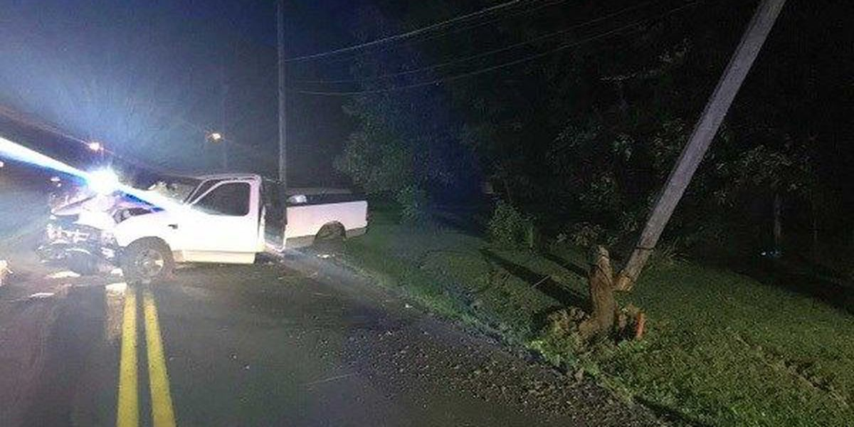 Driver injured after hitting utility pole in McCracken Co., KY