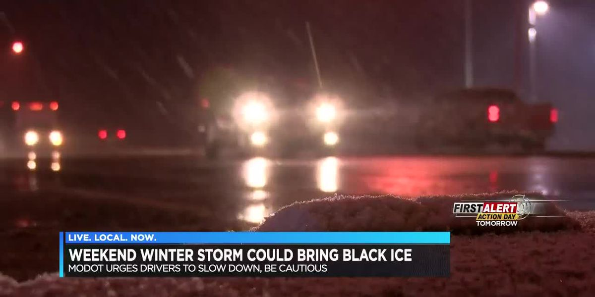Weekend weather could bring black ice