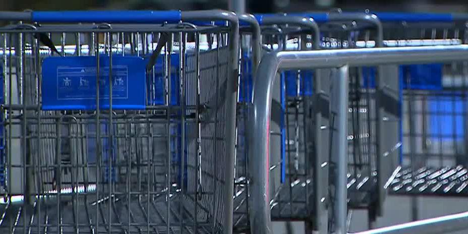 Razors found under shopping cart handles at NC Walmart