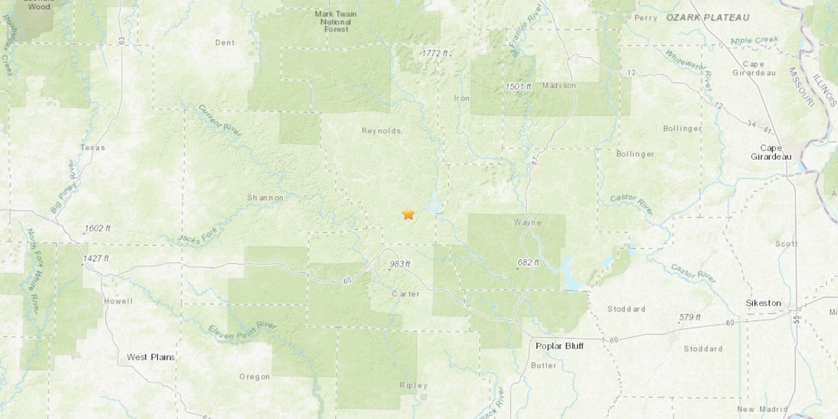 2.3 earthquake hits in Reynolds County, Mo.