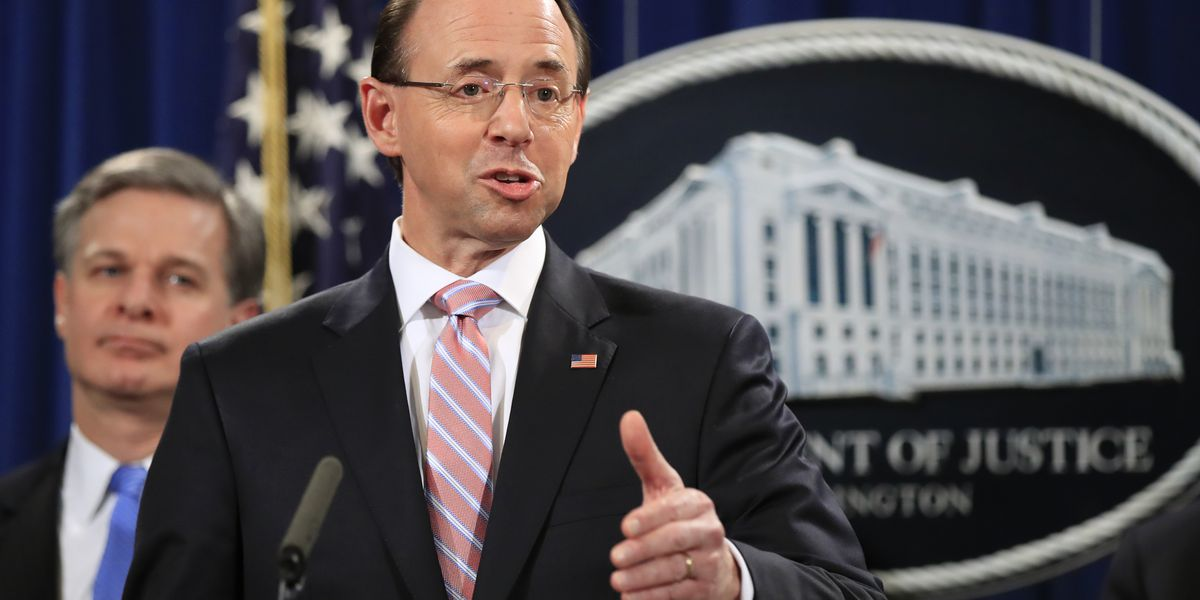 Rod Rosenstein expected to leave DOJ, reports say