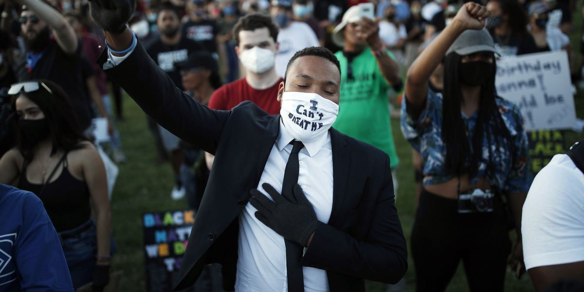 Mourners hold memorial for Floyd as protesters pour into cities for another huge mobilization