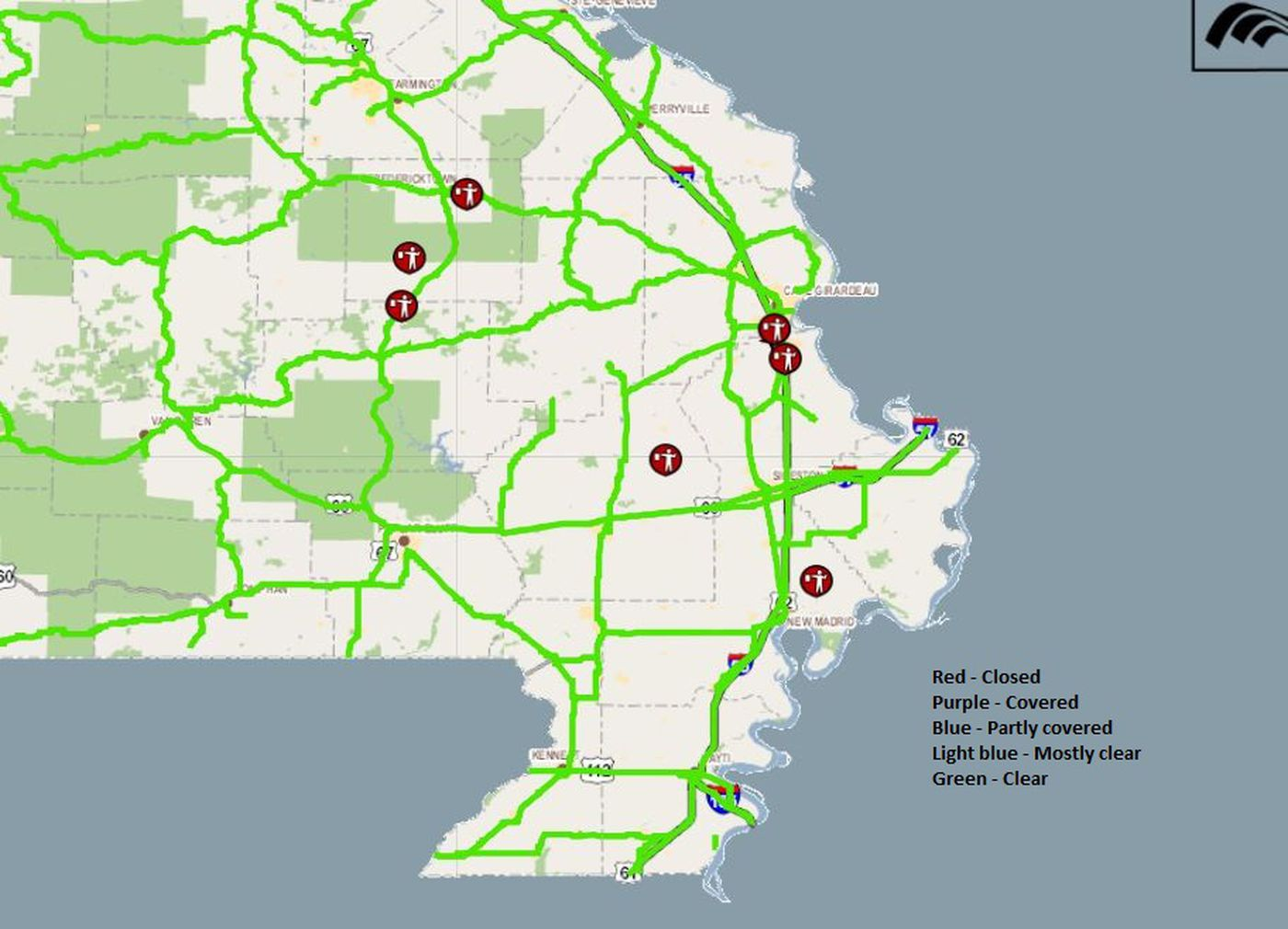 Check road conditions here on