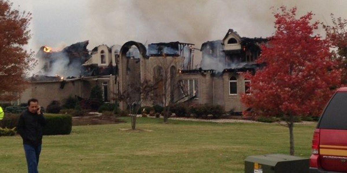 Crews battle large house fire near Makanda, IL