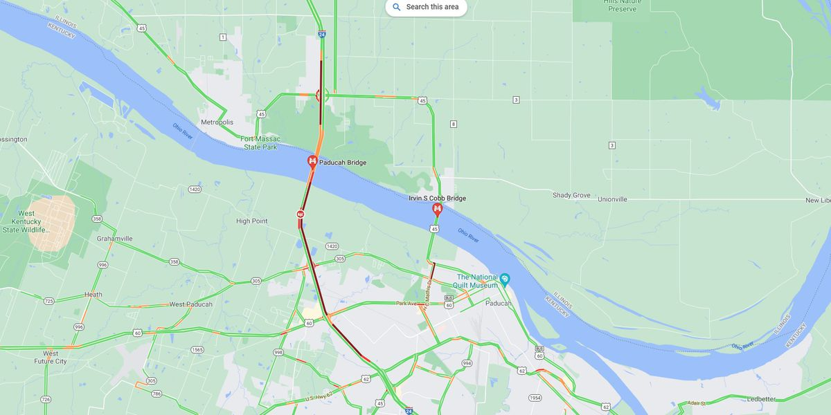 I-24 westbound on Ohio River Bridge from Kentucky into Illinois open after crash