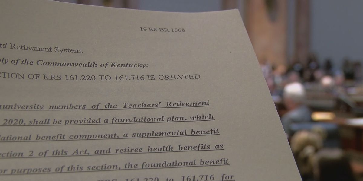 Bill introduced in KY House to tackle teacher pension crisis