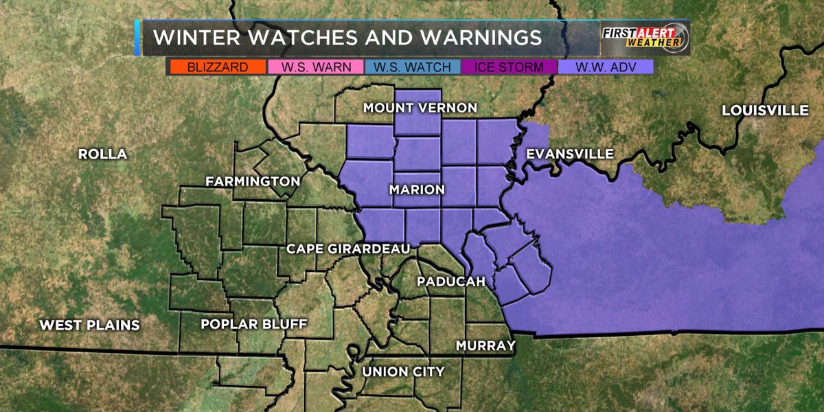 First Alert: Winter Weather Advisories for parts of Heartland through midnight