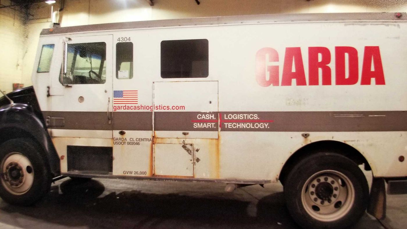 The GardaWorld armored vehicle was reported missing around 3:15 p.m. December 5. It was later found on the north side of Jefferson Mall.