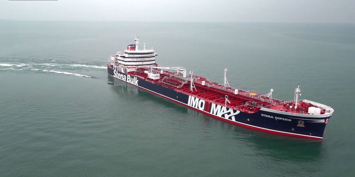 Iran says British tanker seized because of collision